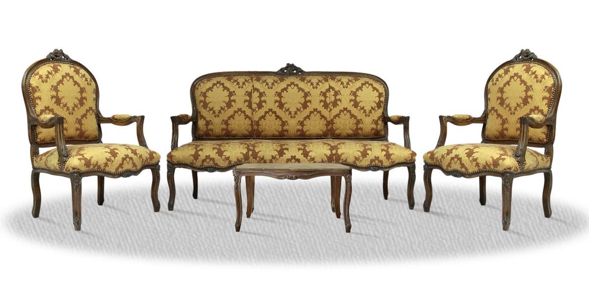 Casa Padrino Antik Stil Salon Set Mit Sitzbank 2 Stühlen Und Tisch