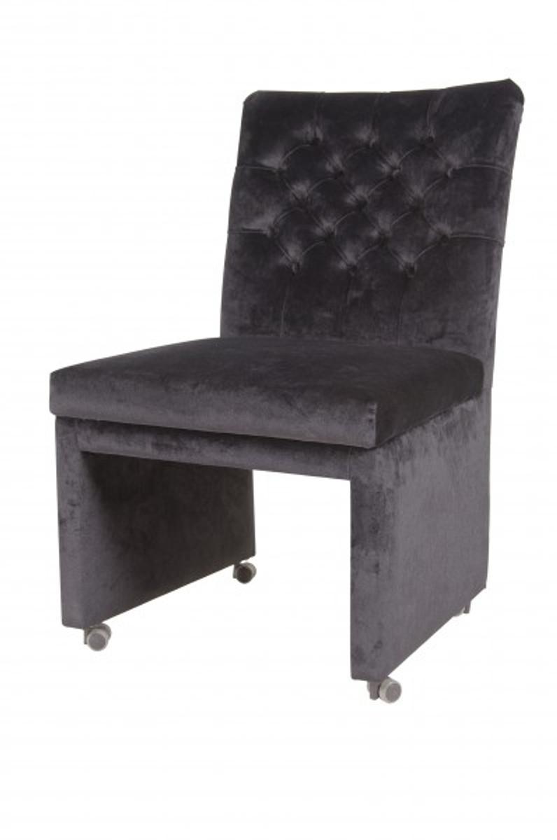Casa Padrino Designer Esszimmer Stuhl Sessel Modef 320 Schwarz
