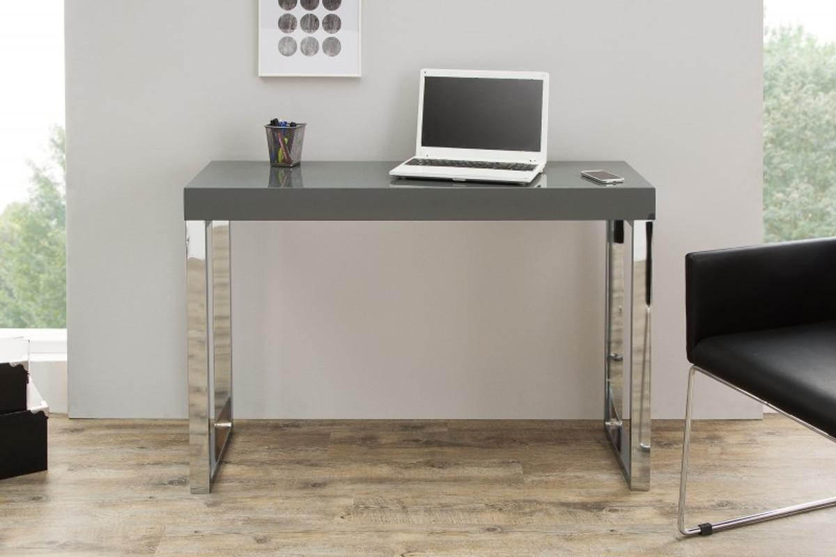 Schreibtisch Grau Hochglanz 2021
