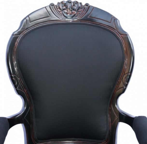 casa padrino barock sessel louis xiv superior schwarz aus frankreich kaufen bei demotex gmbh. Black Bedroom Furniture Sets. Home Design Ideas