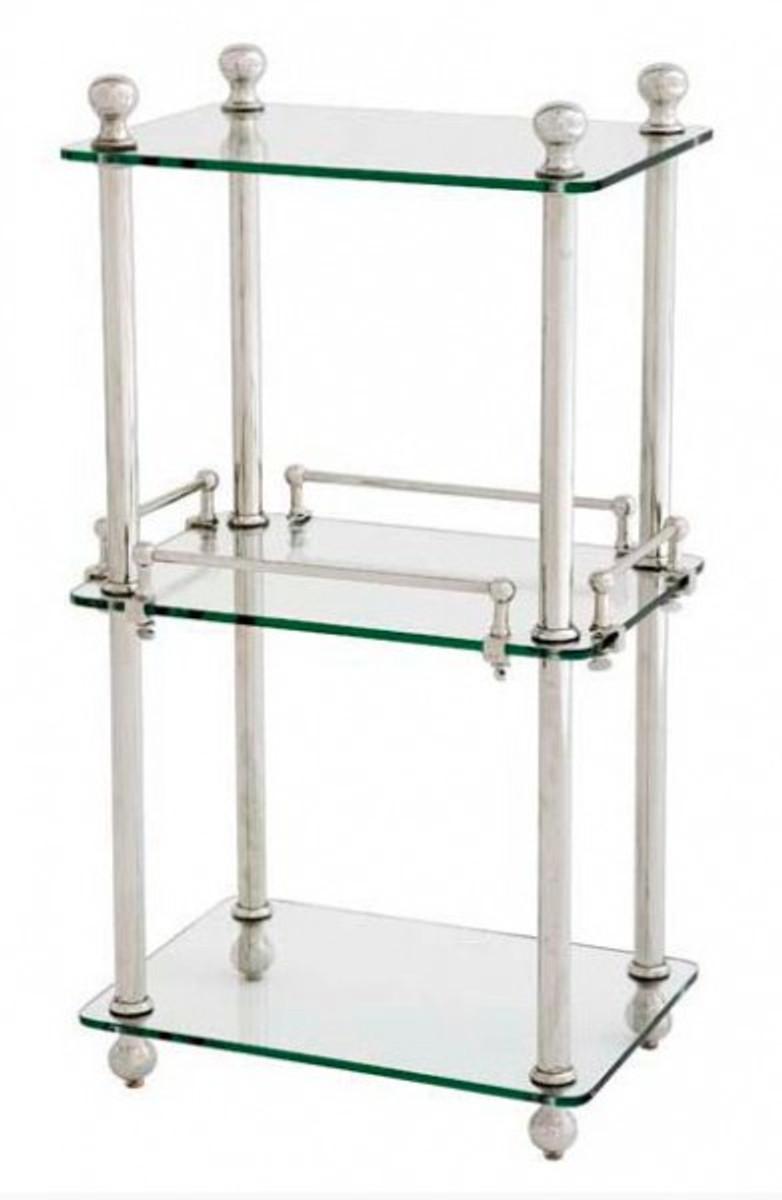Casa Padrino Badezimmer Luxus Regalschrank Vernickelt Glasregal