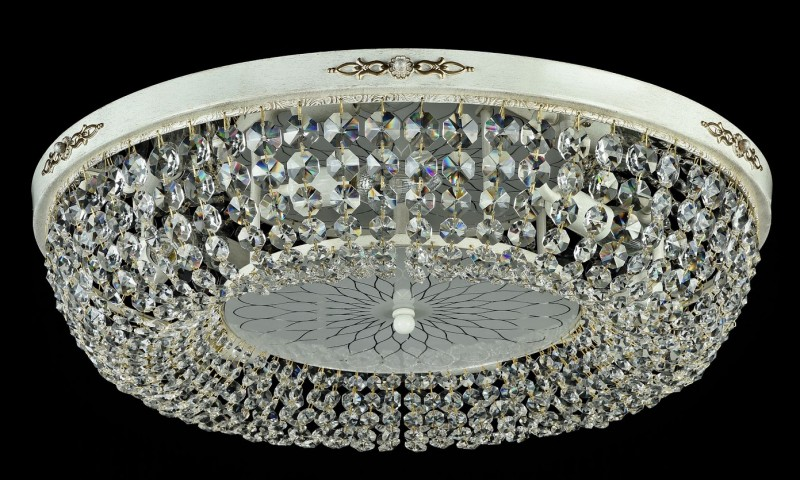Casa Padrino Barock Kristall Decken Kronleuchter Cream Gold 60 X H 15 Cm  Antik Stil