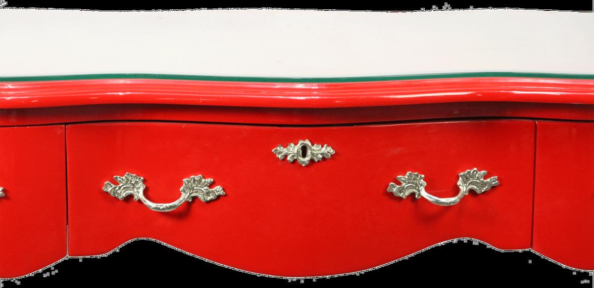 Glasplatte 120 X 80 : casa padrino barock schreibtisch sekret r konsole rot mit glasplatte 120 x 60 x h80 cm ~ Watch28wear.com Haus und Dekorationen