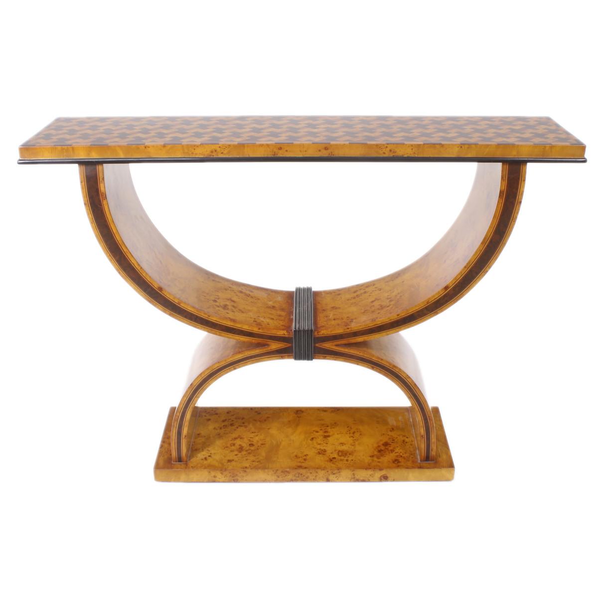 Casa Padrino Art Deco Beistelltisch 120cm X 35cm X H 95cm Antik Stil Tisch Mobel