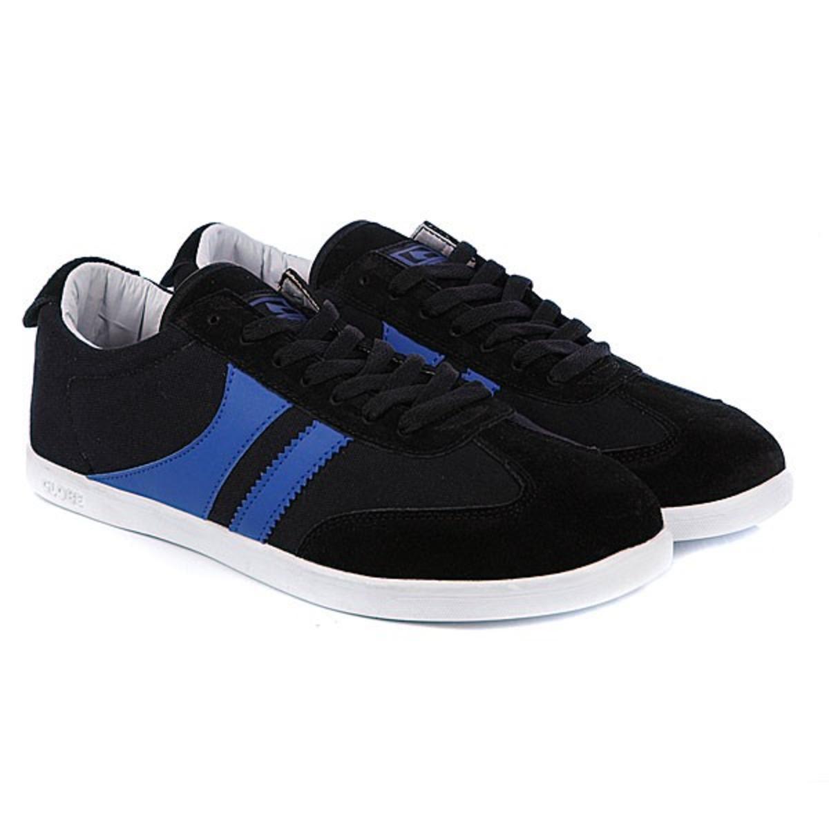 info for fda1e 51f94 Globe Skateboard Schuhe Spire Black/Oxide Blue