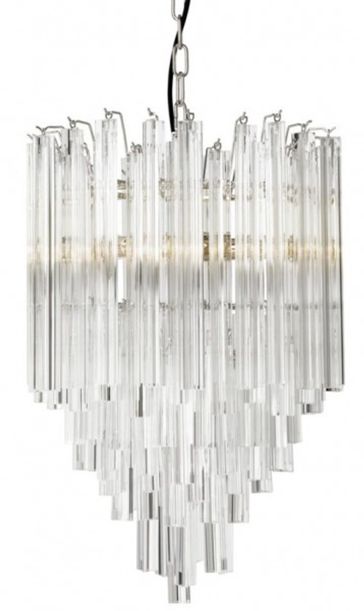 Casa Padrino Luxus Hängeleuchte Eiszapfen Glas - Art Deco Hotel /  Restaurant Lampe - Eindrucksvolle Leuchte