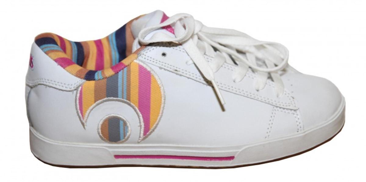 Osiris Skateboard Schuhe Serve Icon Girls Weiß Stripes