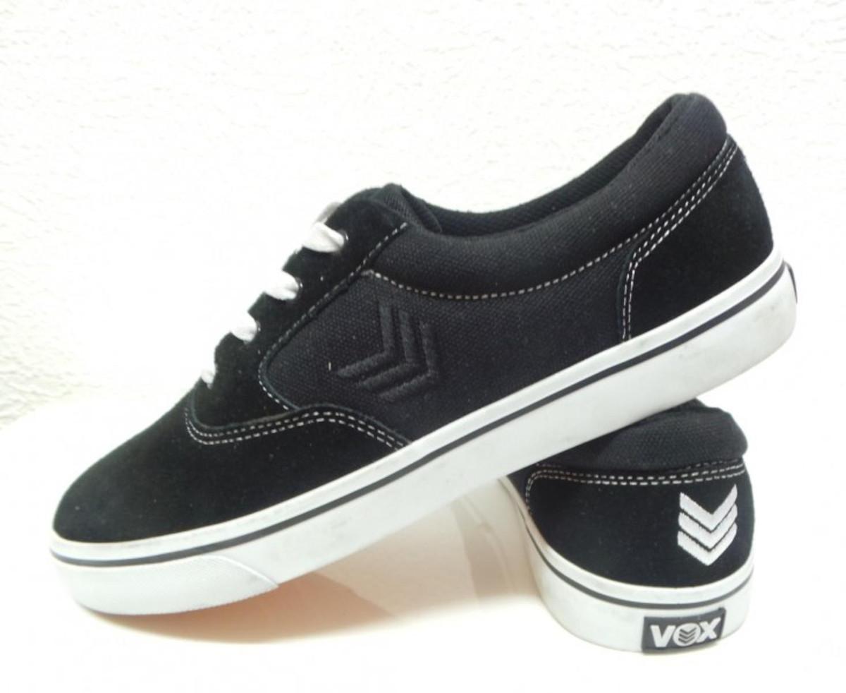 Vox Skateboard Schuhe Kruzer schwarz Weiß  schwarz  schwarz Weiß  schwarz