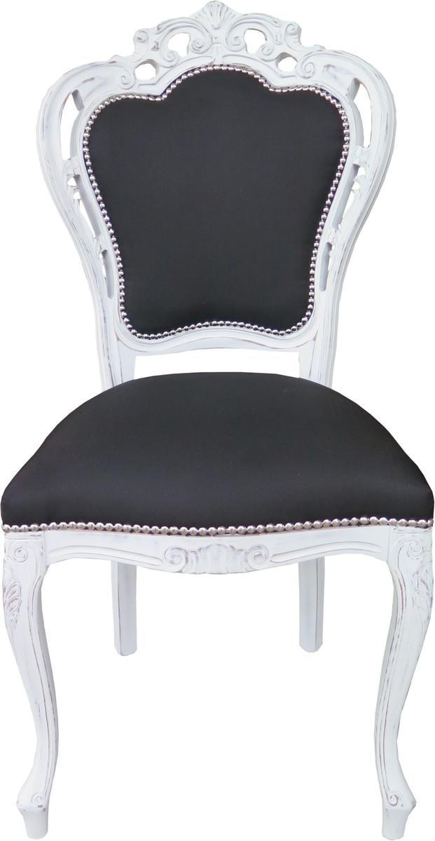 casa padrino barock esszimmer stuhl ohne armlehnen schwarz. Black Bedroom Furniture Sets. Home Design Ideas