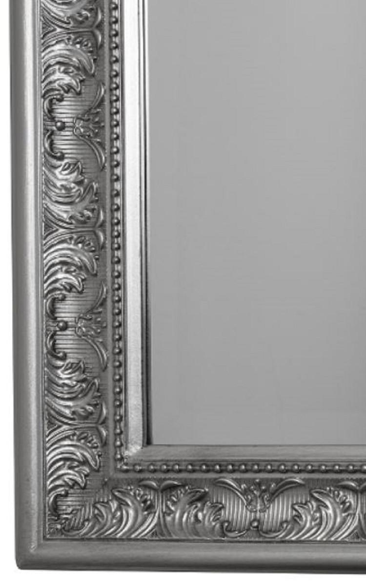 casa padrino barock spiegel wandspiegel silber 62 x h. Black Bedroom Furniture Sets. Home Design Ideas
