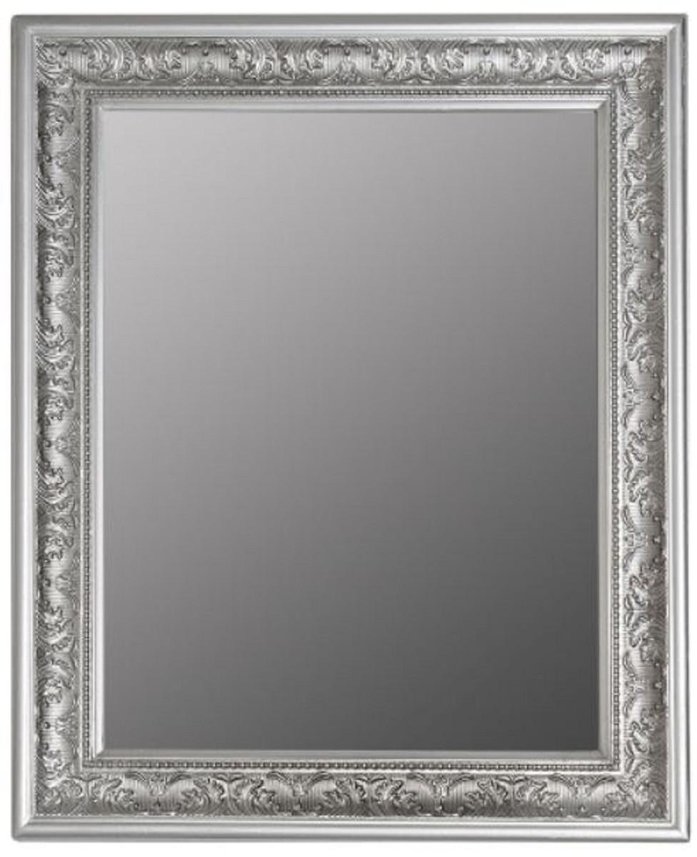 casa padrino barock spiegel silber 52 x h 62 cm. Black Bedroom Furniture Sets. Home Design Ideas