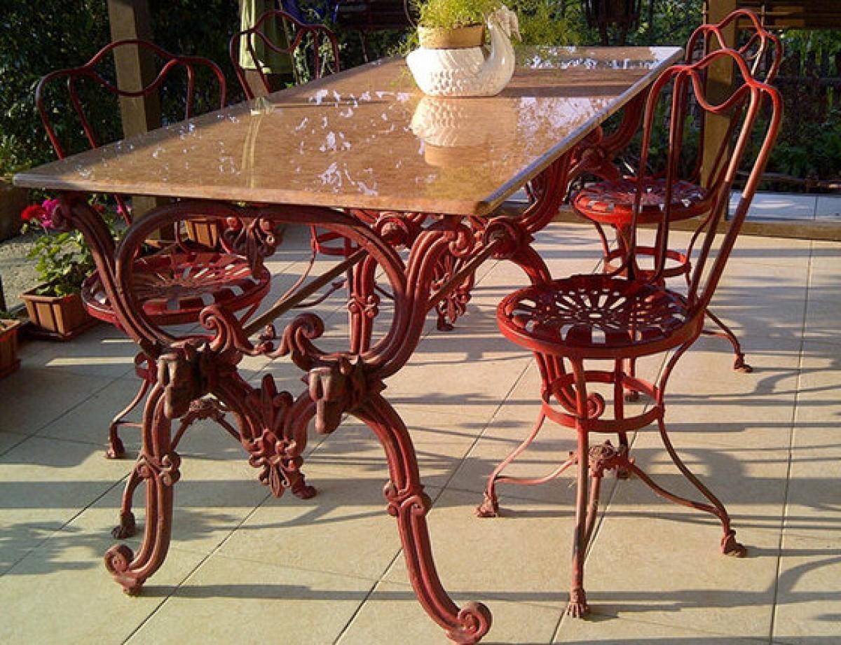 gartenmobel metall jugendstil, casa padrino luxus jugendstil gartenmöbel set - 1 tisch + 4 stühle, Design ideen