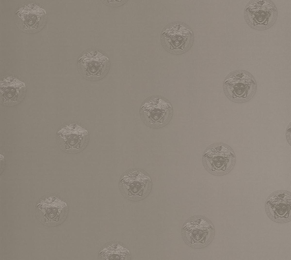 Versace Designer Barock Vliestapete Vanitas 348623 Grau / Silber - Design  Tapete - Luxus Deko Accessoires