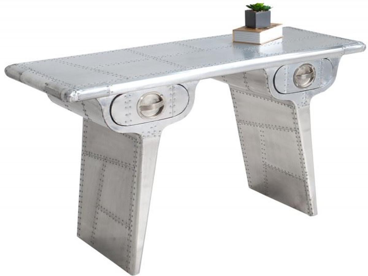 Casa Padrino Art Deco Aluminium Tisch   Flugzeug / Flieger Möbel  Schreibtisch Mod1 1 ...