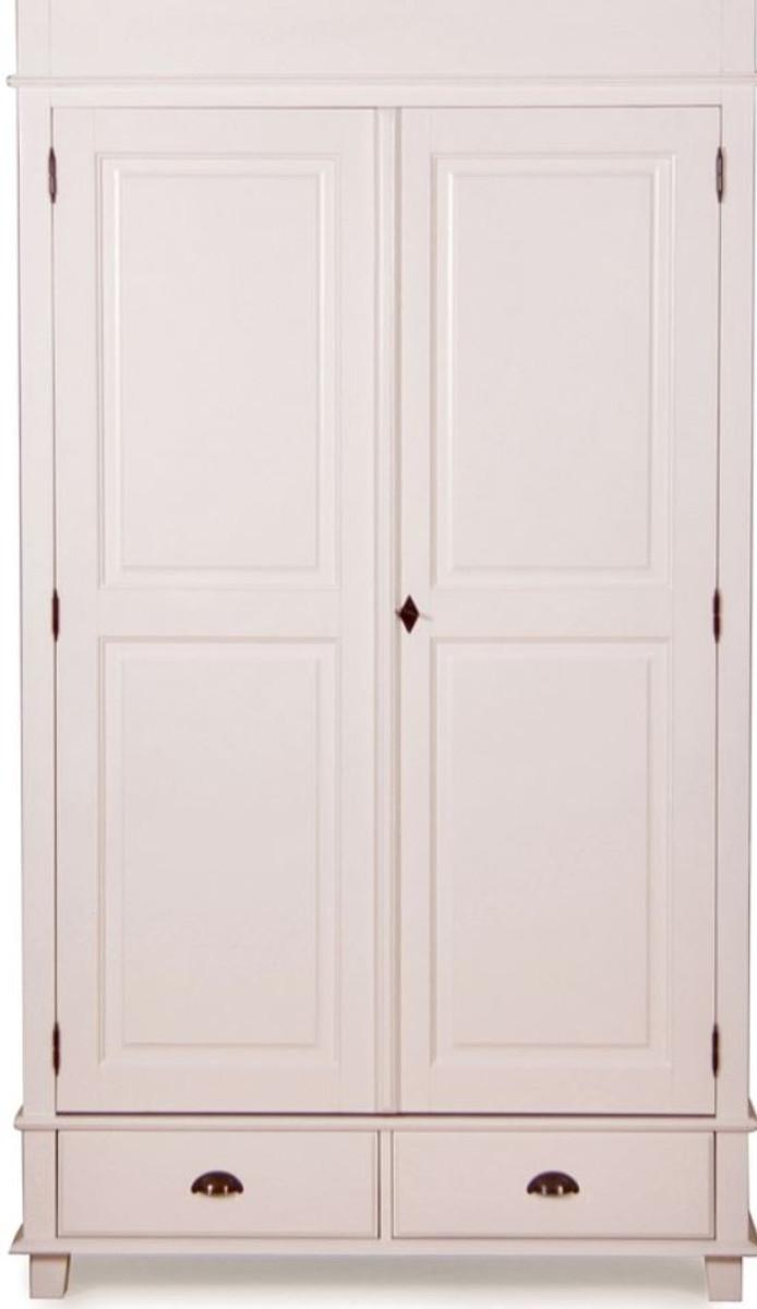 Casa Padrino Landhausstil Schrank Antik Weiß 120 X 60 X H. 250 Cm    Zweitüriger ...