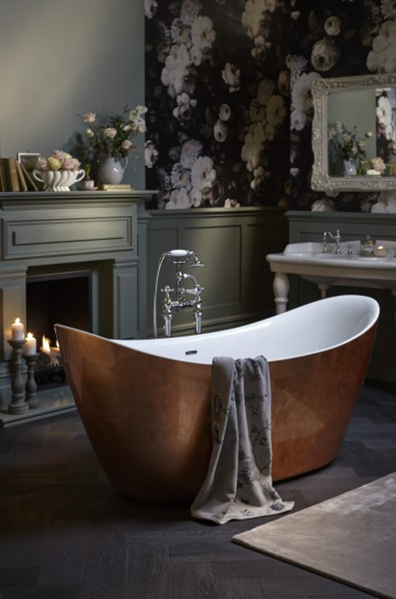 Casa Padrino Art Deco Badewanne freistehend Kupfereffekt Modell He ...