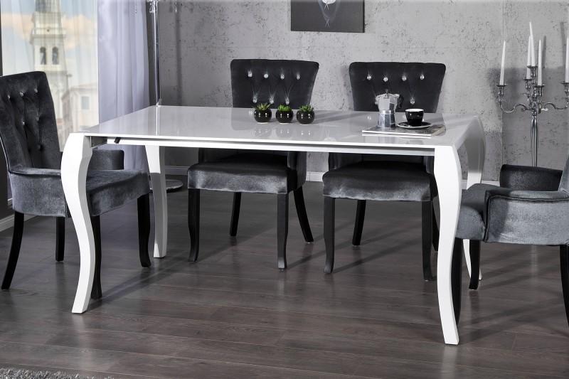 ... Casa Padrino Barock Esstisch Hochglanz Weiß Mit Auszug 170/200/230cm    Esszimmer Tisch ...