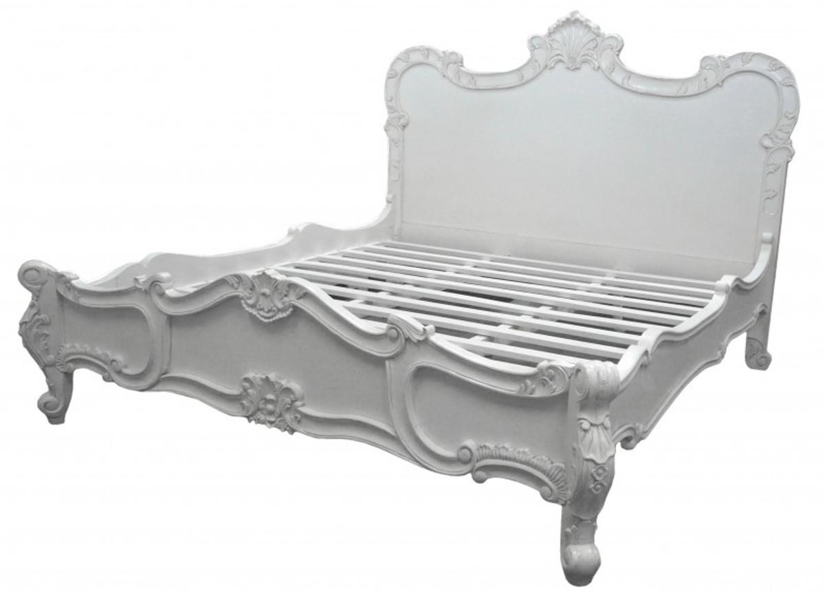 Barock Bett Florenz Weiss 180 X 200 Cm Aus Der Luxus Kollektion Von