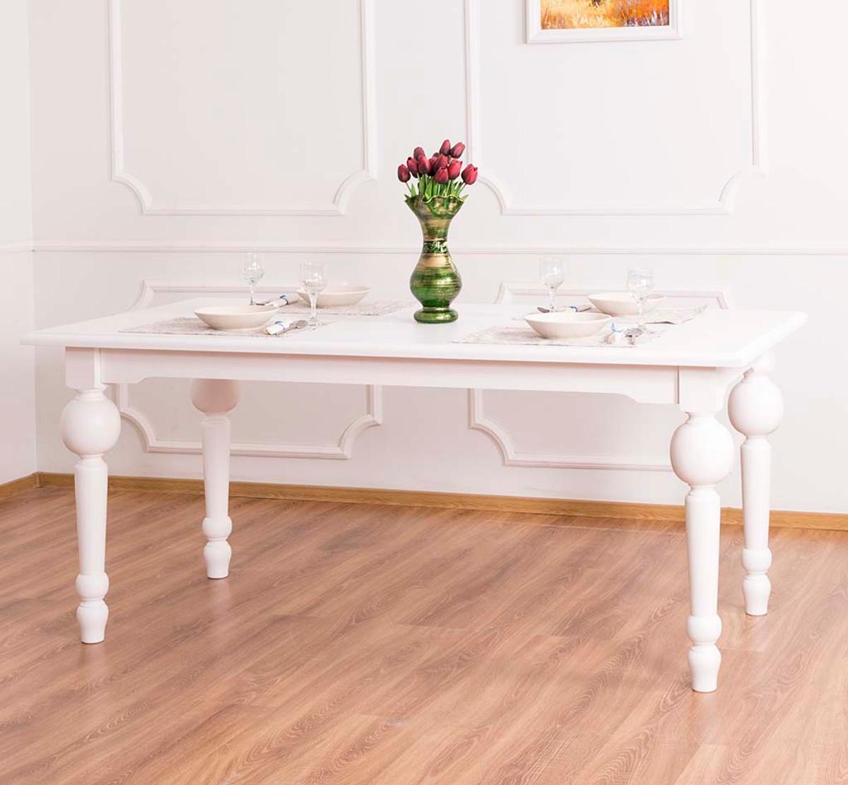 Einzigartig Esszimmermöbel Weiß Beste Wahl Casa Padrino Stil Esstisch Weiß 180 X
