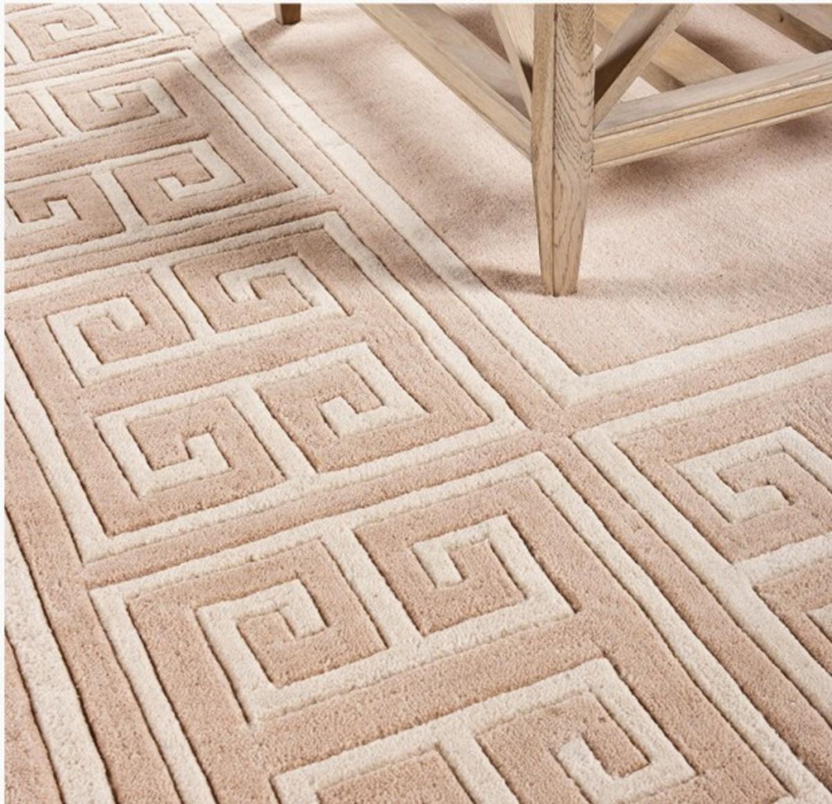 Wunderschoner Luxus Teppich Aus 100 Neuseeland Wolle Mit Maander