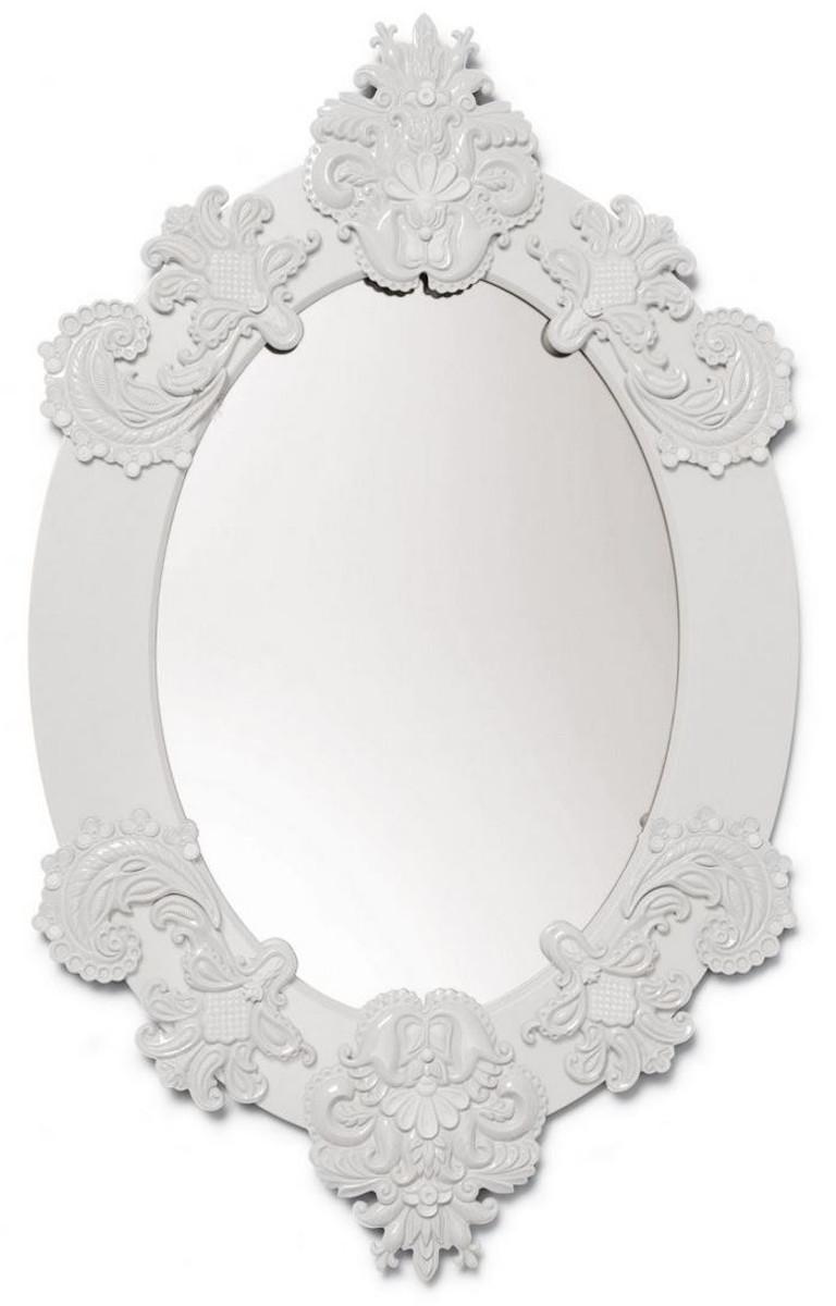 Casa Padrino Designer Spiegel Wandspiegel Weiss 58 X H 93 Cm