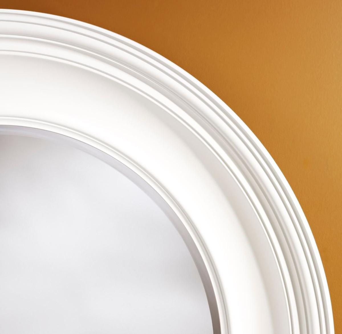 casa padrino luxus wohnzimmer spiegel weiß Ø 102 cm