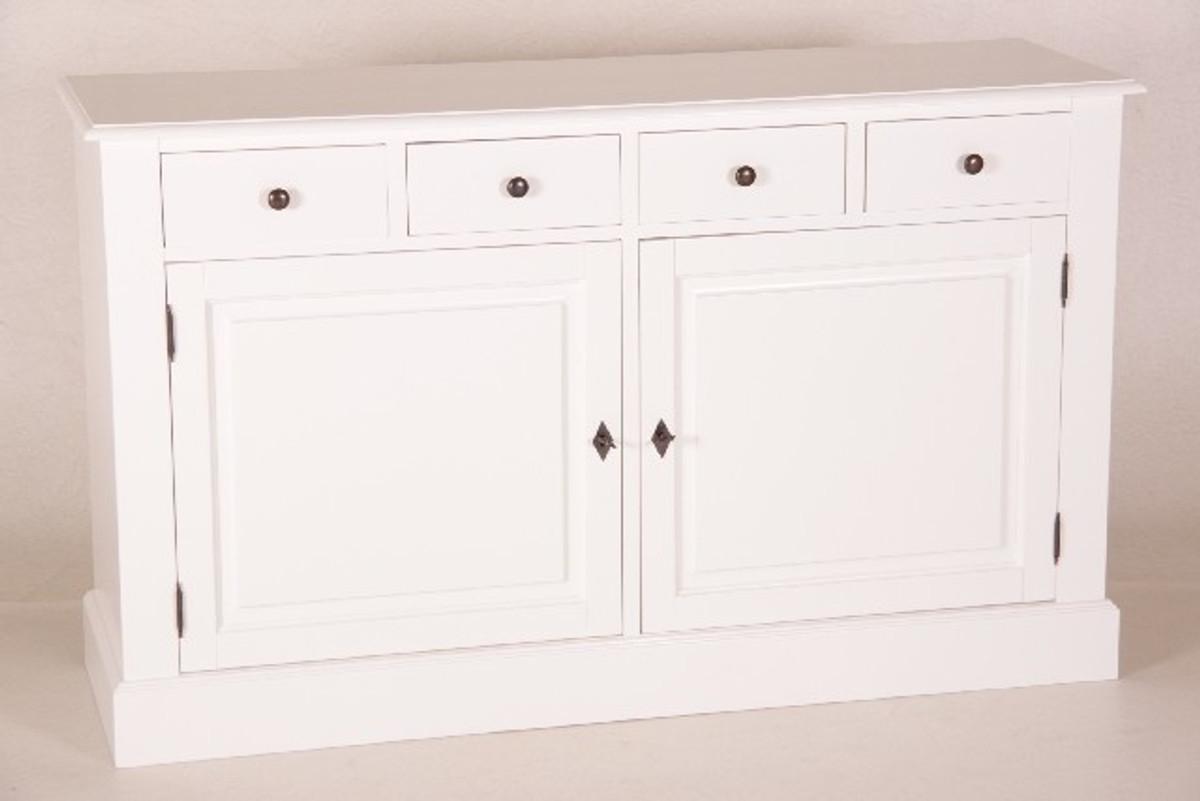 Casa Padrino Shabby Chic Landhaus Stil Kommode Weiß B 150 H 90 cm Möbel  Diele Esszimmer Schrank