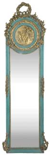Casa Padrino Barock Spiegel Türkis / Antik Gold 55 x H. 175 cm - Massiv und Schwer - Antik Stil Wandspiegel - Vorschau