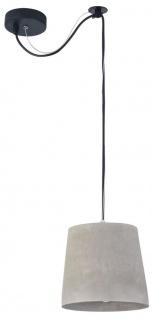 Casa Padrino Hängeleuchte Grau Ø 19 x H. 17 cm - Moderne Pendelleuchte mit Beton Lampenschirm