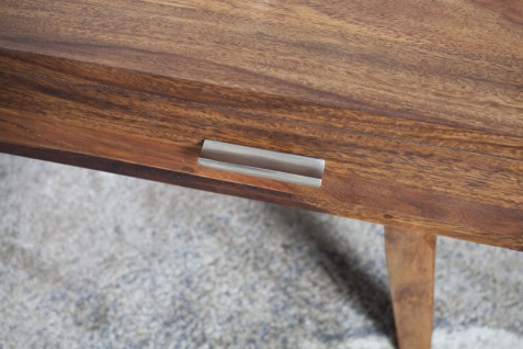 Casa Padrino Designer Massivholz Couchtisch Natur 120 x H. 40 cm - Salon Wohnzimmer Tisch - Vorschau 2