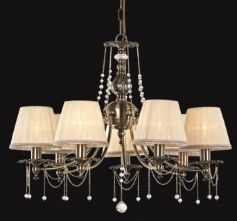 Casa Padrino Barock Decken Kronleuchter Kristall Bronze 74 x H 53 cm Antik Stil - Möbel Lüster Leuchter Hängeleuchte Hängelampe