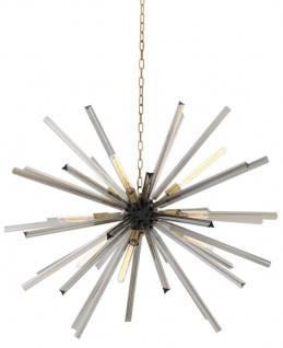 Casa Padrino Luxus Wohnzimmer Kronleuchter mit Rauchglas Durchmesser 120 cm - Designer Kollektion