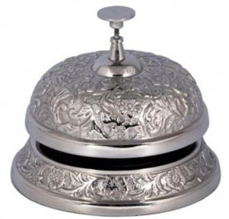 Casa Padrino Antik Stil Tischglocke Silber Ø 12 x H. 14 cm - Aluminium Tischklingel - Service Glocke - Hotel & Gastronomie Accessoires