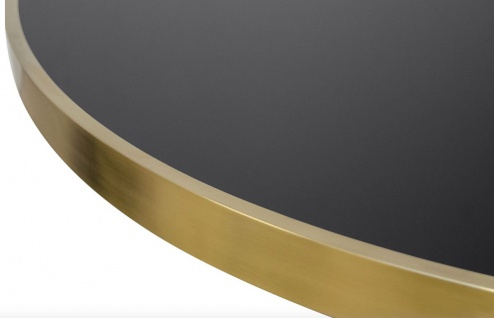 Casa Padrino Luxus Esstisch Schwarz / Gold 120 x H. 76 cm - Designer Esszimmermöbel - Vorschau 2