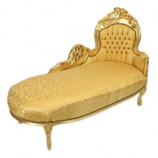 Casa Padrino Barock Chaiselongue Gold Muster / Gold - Barock Möbel - Recamiere Liege - Vorschau 2