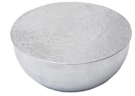 Casa Padrino Couchtisch Silber 68 cm Aluminium - Wohnzimmer Salon Tisch - Unikat
