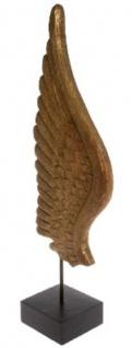 Casa Padrino Luxus Deko Holz Flügel mit Sockel Naturfarben / Schwarz 24 x 13 x H. 66 cm - Deko Accessoires - Vorschau 2