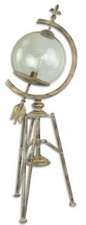 Casa Padrino Jugendstil Stehleuchte Antik Cremefarben / Gold 34 x 24, 7 x H. 95, 8 cm - Dreibein Stehlampe im Sonnenuhr Design