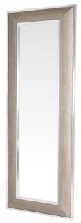 Casa Padrino Designer Spiegel mit cremefarbigen Cobradruck 80 x H. 220 cm - Luxus Kollektion