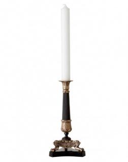 Casa Padrino Luxus Kerzenständer Messing Finish Paris - schwere Ausführung - Kerzenhalter Kerzenleuchter