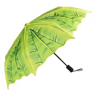"""MySchirm Designer Taschenschirm Motivschirm """" Palmendach"""" - Eleganter Regenschirm - Luxus Design"""