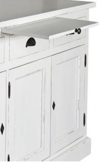 Casa Padrino Landhausstil Küchenschrank Antik Weiß 137 x 50 x H. 197 cm - 2 Teiliger Küchenschrank mit 5 Türen und 7 Schubladen - Vorschau 2