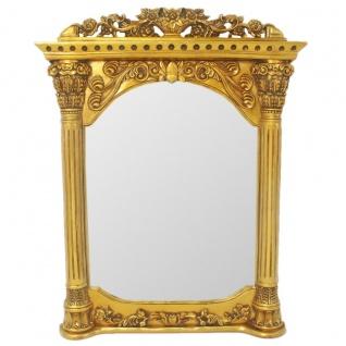 Casa Padrino Barock Wandspiegel Gold 90 x H. 115 cm - Barockstil Spiegel Antik Stil Möbel