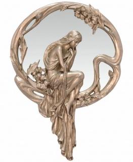 Casa Padrino Jugendstil Wandspiegel Silber 47, 7 x H. 67, 6 cm - Barock & Jugendstil Deko Accessoires