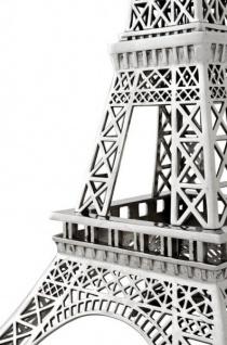 Casa Padrino Luxus Standleuchte Eiffelturm Silber - Massives vernickeltes Metall - Leuchte Lampe - Tischleuchte Tischlampe, Stehleuchte, Stehlampe - Vorschau 4