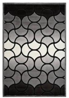 Casa Padrino Luxus Teppich Silber - Verschiedene Größen - Wohnzimmer Teppich mit 3D-Effekt