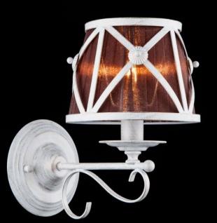 Casa Padrino Barock Wandleuchte Weiß 18, 5 x H 29, 9 cm Antik Stil - Wandlampe Wand Beleuchtung - Vorschau