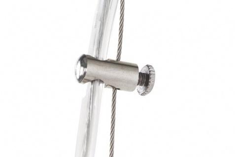 Designer Pendelleuchte aus gebürstetem Aluminium, Silber/Weiß, Leuchte Lampe - Vorschau 4