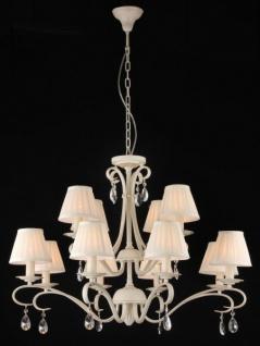 Casa Padrino Barock Kristall Decken Kronleuchter Cream Gold 84 x H 62 cm Antik Stil - Möbel Lüster Leuchter Hängeleuchte Hängelampe