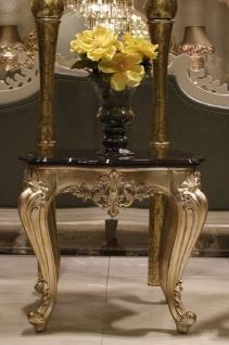Casa Padrino Luxus Barock Beistelltisch Dunkelbraun / Gold - Prunkvoller handgefertigter Tisch im Barockstil - Barock Wohnzimmer Möbel